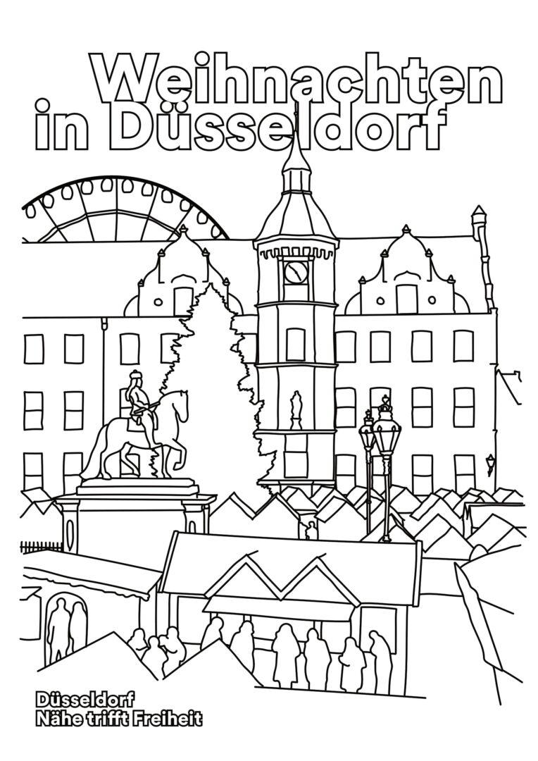 Dusseldorfer Weihnachtsstimmung Zum Ausmalen Dusseldorf Storys
